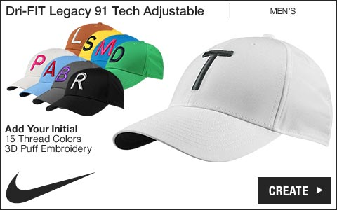 Nike 'Your Initial' Dri-FIT Legacy 91 Tech Adjustable Golf Hats