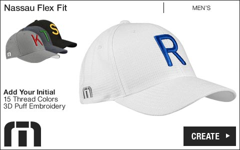 Travis Mathew 'Your Initial' Nassau Flex Fit Golf Hats