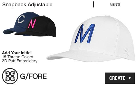 G/Fore 'Your Initial' Snapback Adjustable Golf Hats