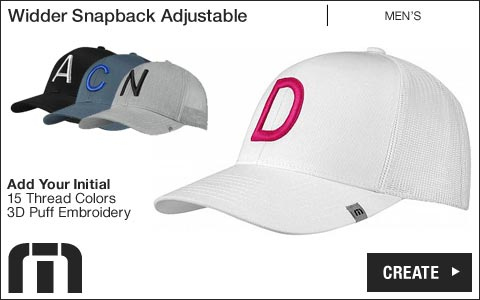 Travis Mathew 'Your Initial' Widder Snapback Adjustable Golf Hats