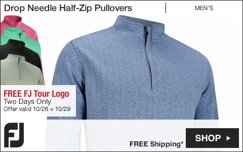FJ Drop Needle Half-Zip Golf Pullovers with Gathered Waist - FREE FJ Tour Logo - Two Days Only