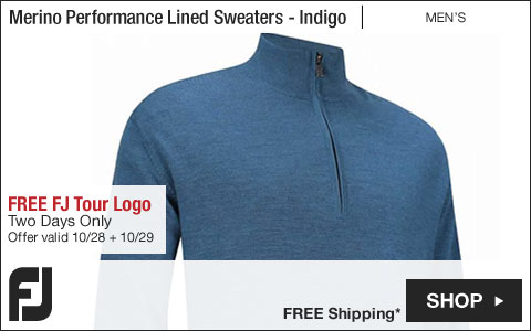 FJ Merino Performance Lined Golf Sweaters - FREE FJ Tour Logo - Two Days Only