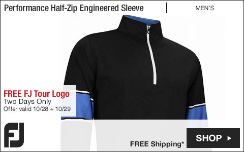 FJ Performance Half-Zip Engineered Sleeve Golf Pullovers - FREE FJ Tour Logo - Two Days Only