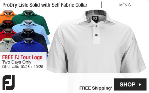 FJ ProDry Lisle Solid Golf Shirts with Self Fabric Collar - FREE FJ Tour Logo - Two Days Only