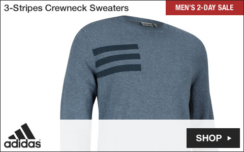 Adidas 3-Stripes Crewneck Golf Sweaters - Two-Day Sale