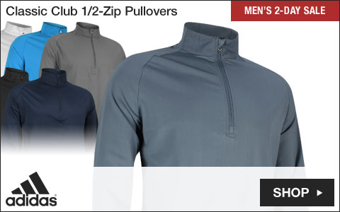 Adidas Classic Club Half-Zip Golf Pullovers - Two-Day Sale