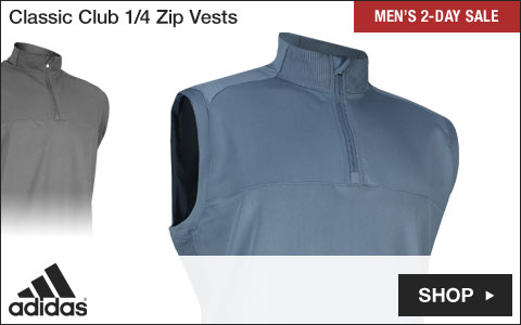 Adidas Classic Club Quarter-Zip Golf Vests - Two-Day Sale
