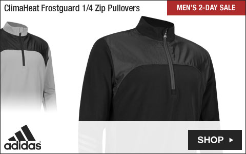 Adidas 	ClimaHeat Frostguard Quarter-Zip Golf Pullovers - Two-Day Sale
