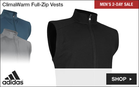 Adidas ClimaWarm Full-Zip Golf Vests - Two-Day Sale
