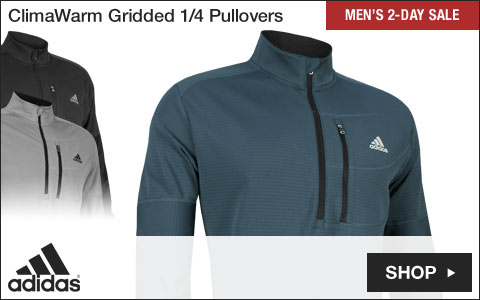 Adidas ClimaWarm Gridded Quarter-Zip Golf Pullovers - Two-Day Sale