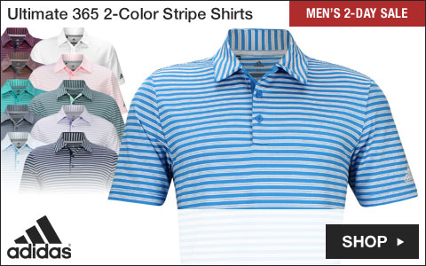 Adidas Ultimate 2-Color Stripe Golf Shirts - Two-Day Sale