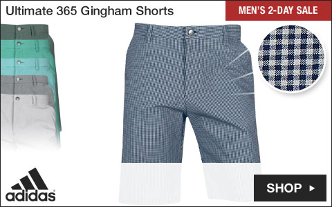 Adidas Ultimate 365 Gingham Golf Shorts - Two-Day Sale