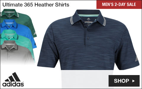 Adidas Ultimate Heather Golf Shirts - Two-Day Sale