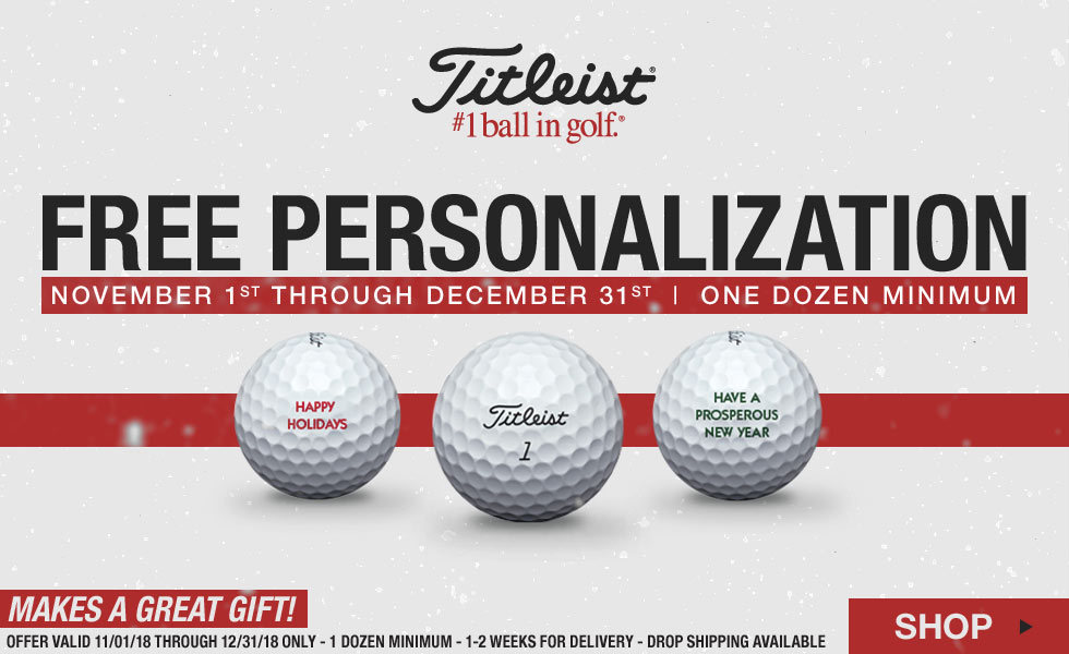 Titleist Free Personalization on Golf Balls for the Holidays