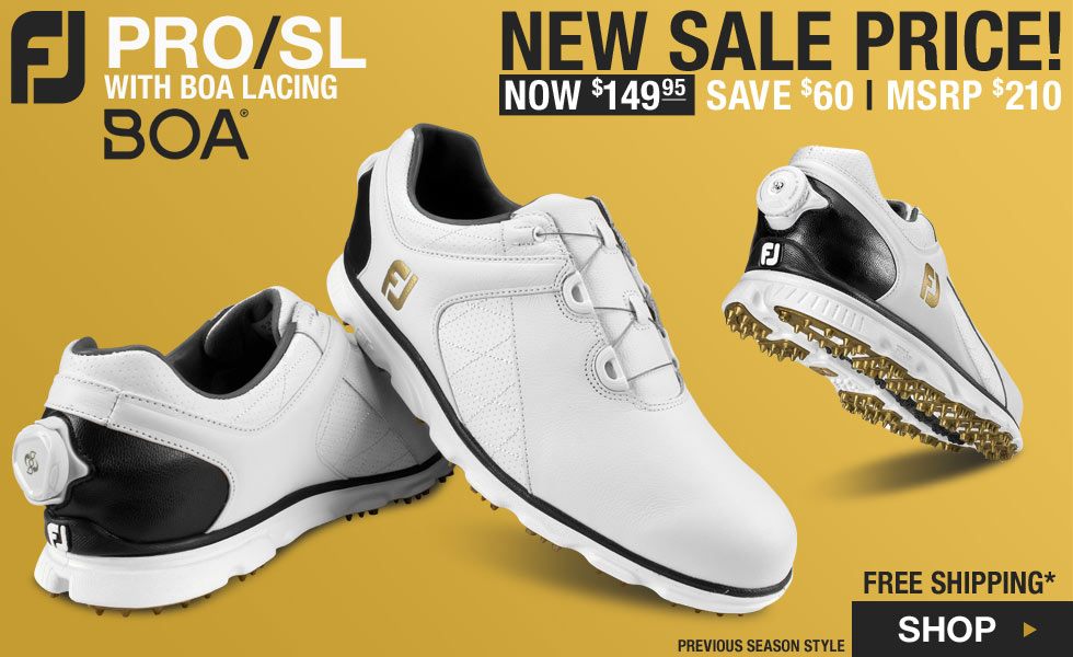 FJ Pro SL Spikeless Golf Shoes with BOA Lacing System - Previous Season Style