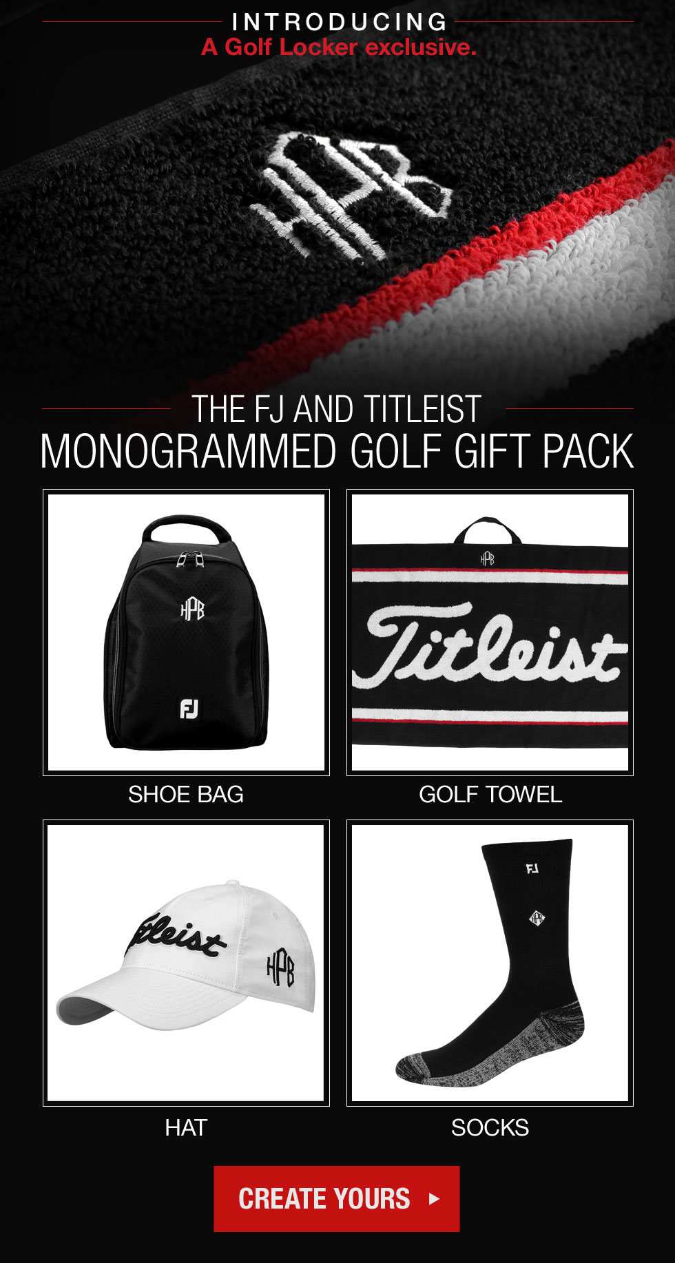 11-06 The Titleist and FJ Monogrammed Gift Pack - a Golf Locker Exclusive.