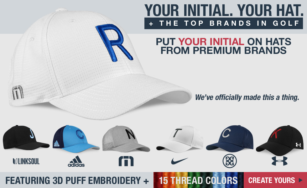 'Your Initial' Golf Hats - Add Your Initial to the Top Brands in Golf