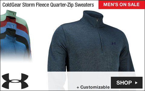 Under Armour ColdGear Storm Fleece Quarter-Zip Golf Sweaters - ON SALE