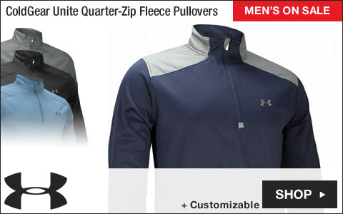Under Armour ColdGear Unite Quarter-Zip Fleece Golf Pullovers - ON SALE