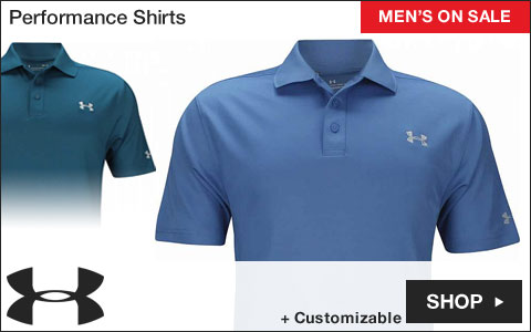 Under Armour Performance Golf Shirts - ON SALE