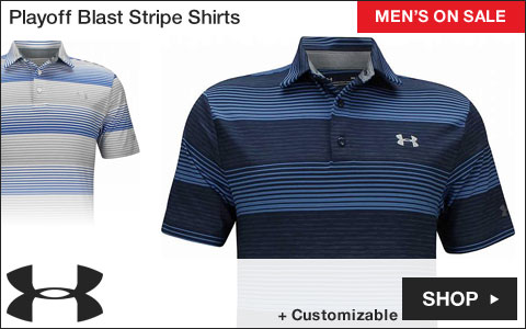 Under Armour Playoff Blast Stripe Golf Shirts - ON SALE