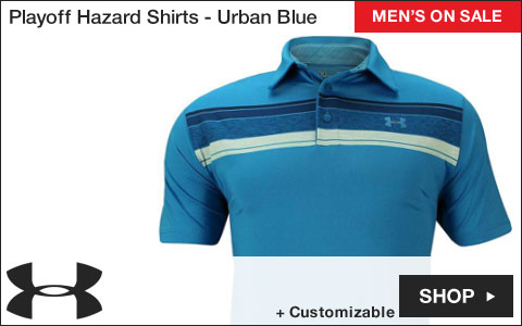 Under Armour Playoff Hazard Golf Shirts - Urban Blue - ON SALE