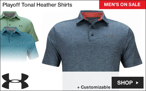 Under Armour Playoff Tonal Heather Golf Shirts - ON SALE