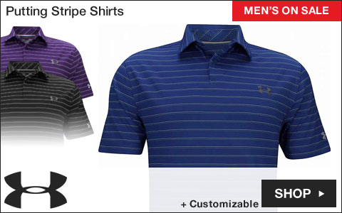 Under Armour Putting Stripe Golf Shirts - ON SALE