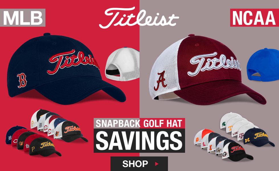 Titleist MLB and NCAA Snapback Golf Hats On Sale c2fa0c650a0
