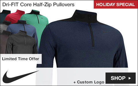 Nike Dri-FIT Core Half-Zip Golf Pullovers - Holiday Special