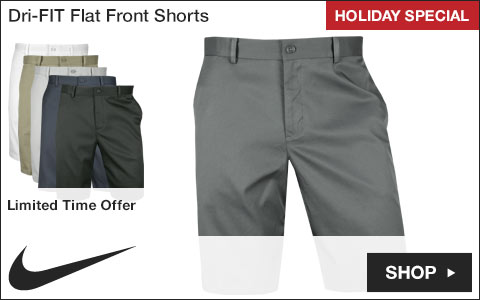 Nike Dri-FIT Flat Front Golf Shorts - Holiday Special