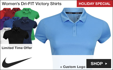 Nike Women's Dri-FIT Victory Golf Shirts - Holiday Special
