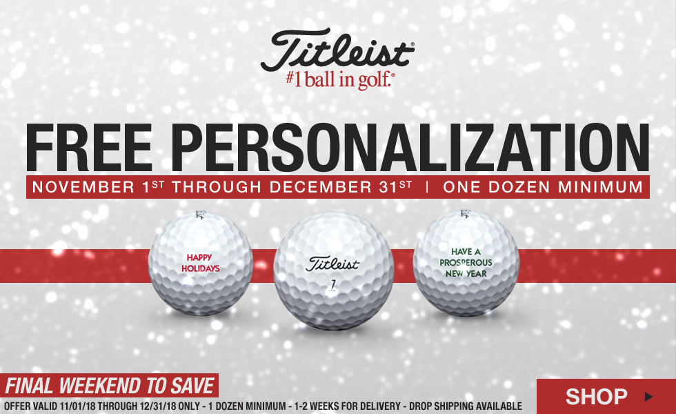 Free Personalizatino on Select Titleist Golf Balls