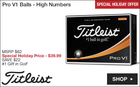 Titleist Pro V1 Golf Balls - High Numbers - Special Holiday Offer