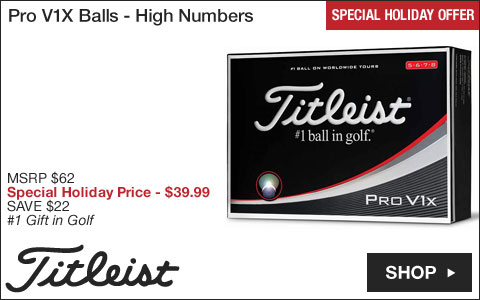 Titleist Pro V1X Golf Balls - High Numbers - Special Holiday Offer
