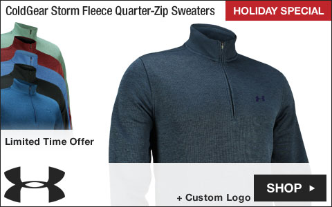 Under Armour ColdGear Storm Fleece Quarter-Zip Golf Sweaters - HOLIDAY SPECIAL