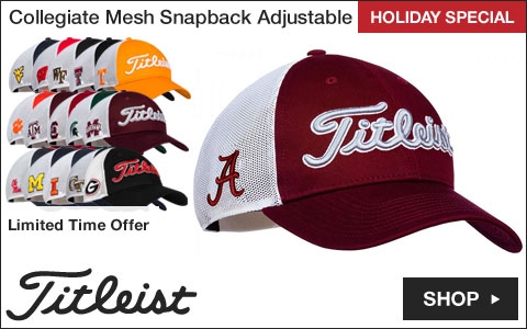 Titleist Collegiate Mesh Snapback Adjustable Golf Hats - HOLIDAY SPECIAL