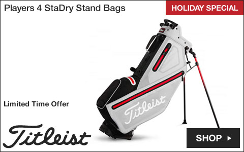 Titleist 	Players 4 StaDry Stand Golf Bags - HOLIDAY SPECIAL