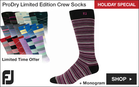 FJ ProDry Limited Edition Crew Golf Socks - HOLIDAY SPECIAL
