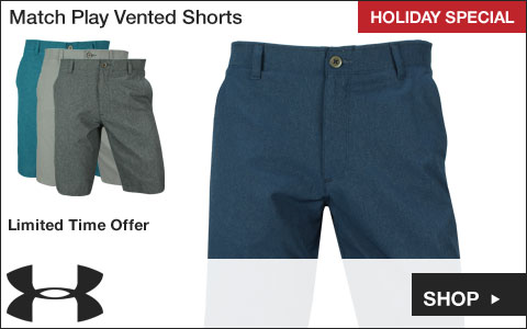 Under Armour 	Match Play Vented Golf Shorts  - HOLIDAY SPECIAL