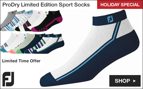 FJ 	ProDry Limited Edition Sport Golf Socks - Previous Season Style - HOLIDAY SPECIAL
