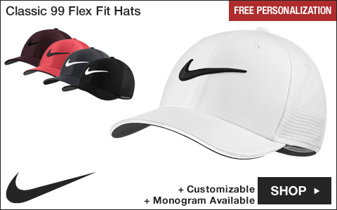 Nike Classic 99 Flex Fit Golf Hats - Free Personalization