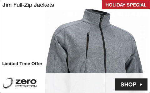 Zero Restriction Jim Full-Zip Golf Jackets - HOLIDAY SPECIAL