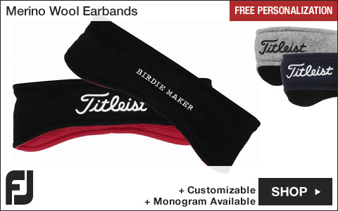 Titleist Merino Wool Golf Earbands - Assorted - Free Personalization