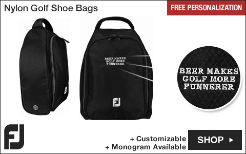 FJ Nylon Golf Shoe Bags - Free Personalization