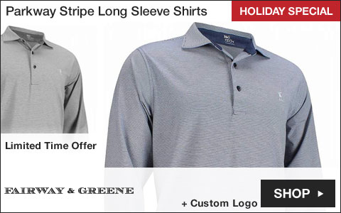 Fairway & Greene Parkway Stripe Long Sleeve Golf Shirts - HOLIDAY SPECIAL