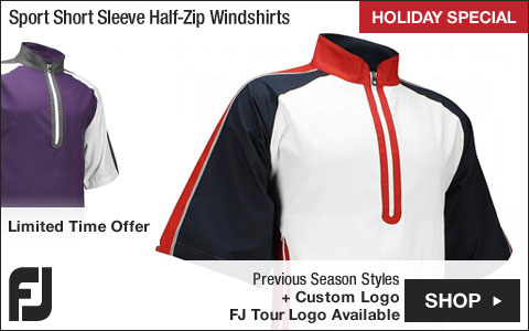 FJ Sport Short Sleeve Half-Zip Golf Windshirts - FJ Tour Logo Available - HOLIDAY SPECIAL