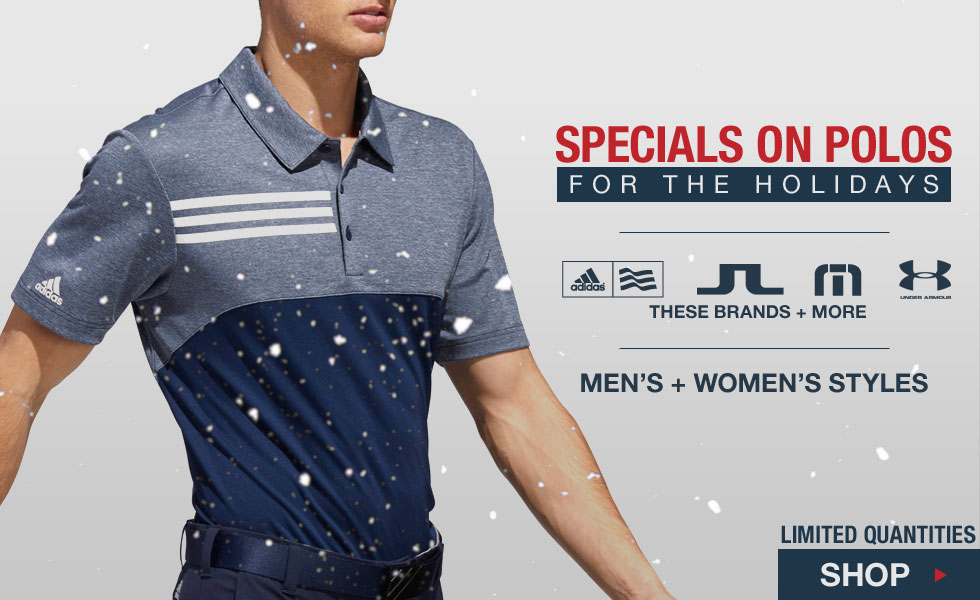 Specials on Polos for the Holidays at Golf Locker