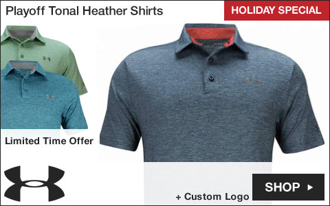 Under Armour Playoff Tonal Heather Golf Shirts - HOLIDAY SPECIAL
