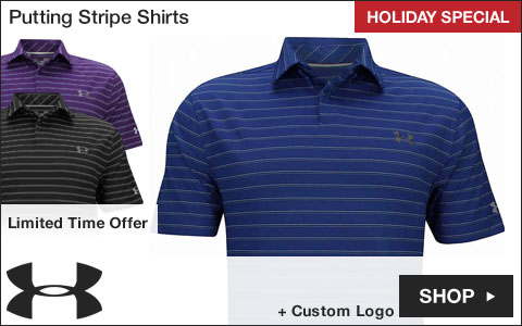 Under Armour Putting Stripe Golf Shirts - HOLIDAY SPECIAL
